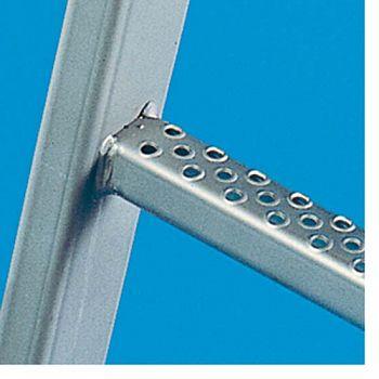 Steigleiter, Einzelteil Aluminium,natur 3,64 m