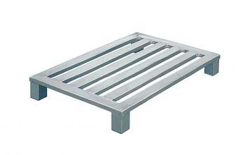 Aluminium Flachpaletten 800x600x150mm,3 Längssprossen