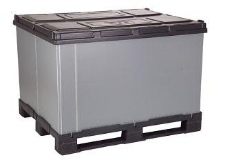Faltbox 1000 x 1200 x 1110 mm mit 3 Kufen ohne Ladeklappe