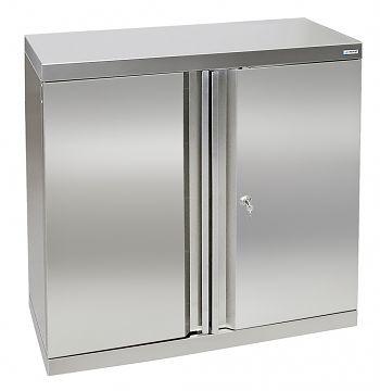 Edelstahlschrank Typ Cabinox HxBxT: 900 x 900 x 400 mm,2 Fachböden