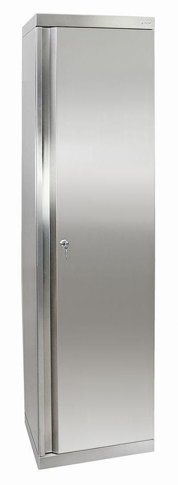Edelstahlschrank Typ Cabinox HxBxT:1800 x 450 x 400 mm,4 Fachböden