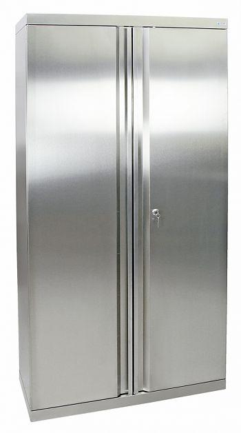 Edelstahlschrank Typ Cabinox HxBxT:1800 x 900 x 400 mm,4 Fachböden