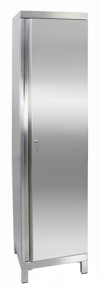Edelstahlschrank Typ Cabinox HxBxT:1900 x 450 x 400 mm,4 Fachböden