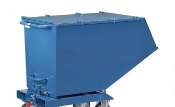 Klappbarer Deckel blau RAL 5007 Kastenmaß LxBxH: 1321 x 1044 x 735 mm