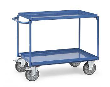Tischwagen 850 x 500 mm mit 2 Stahlblechwannen