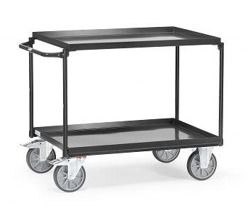Tischwagen mit 2 Wannen,Tragkr.400 kg Ladefläche LxB: 1000 x 700 mm
