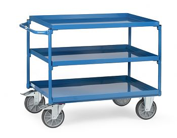 Tischwagen 850x500mm mit 3 Stahlblechwannen