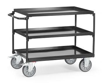 Tischwagen mit 3 Wannen,Tragkr.400 kg Ladefläche LxB: 1000 x 700 mm
