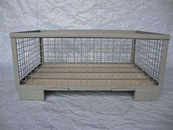 Gitterboxpalette,4 feste Wände, 1200x800x500mm