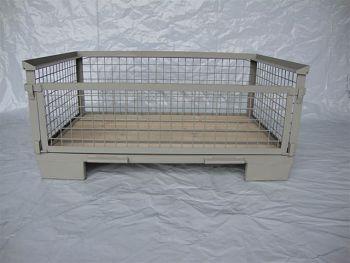 Gitterboxpalette,1 Längswand voll abklappbar 1200x800x500mm