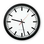 Büro-Funkwanduhr schwarz Ø 300 mm