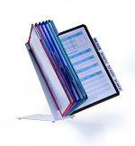 Sichttafel-Tischständer Vario 10, farbig sortiert