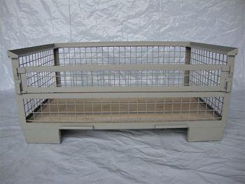 Gitterboxpalette,1 Längswand halb abklappbar 1200x800x570mm
