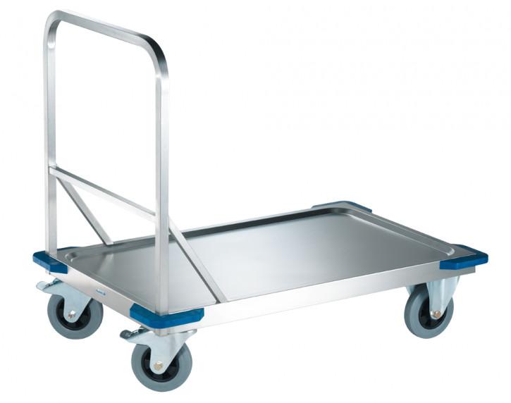 Plattformwagen aus Chromnickel stahl 1098x698x941/252mm