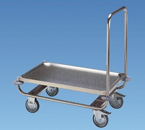 Plattformwagen aus Chromnickel stahl,880x580x900/300mm