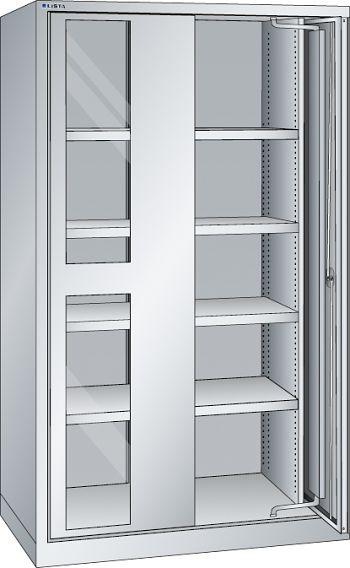 Schwerlastschrank, Key Lock mit Sichtfenster-Einschwenktüren
