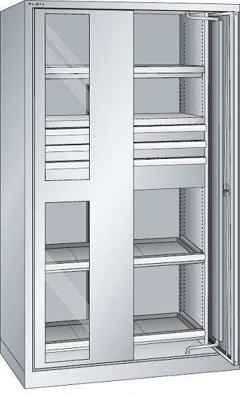 Schwerlastschrank, Key-Lock mit Einschwenksichtfenstertür