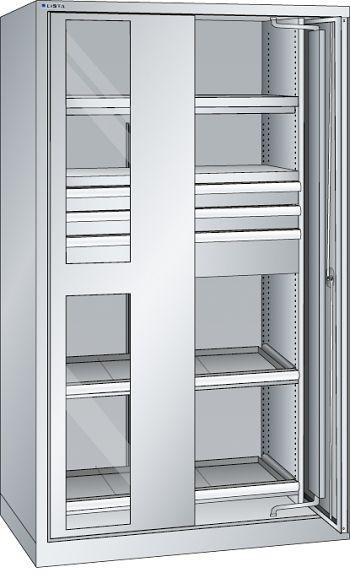 Schwerlastschrank, Code-Lock mit Einschwenksichtfenstertür
