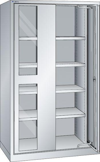 Schwerlastschrank, Code-Lock mit Sichtfenster-Einschwenktüren