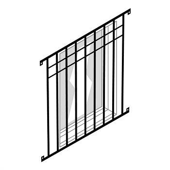 Fenstergitter zu Fenster 940 x 1220mm