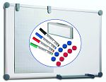 Komplett-Set Whiteboard 2000 grau 90x120 cm