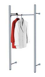 Edelstahl-Garderobe - arte - Grundelement, HxTxB 1900x400x850 mm