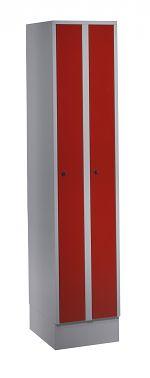 Raumsparschrank, 2 Abteile H x B x T 1.800 x 400 x 500 mm