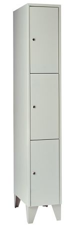 Schließfachschrank mit 3 Türen HxBxT: 1850 x 300 x 500 mm