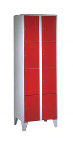 Stahlschrank mit 8 Fächern HxBxT: 1800/1850 x 600 x 500 mm
