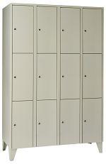 Schließfachschrank mit12 Türen HxBxT: 1850 x 1200 x 500 mm