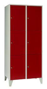Schließfachschrank mit 6 Türen HxBxT: 1850 x 800 x 500 mm