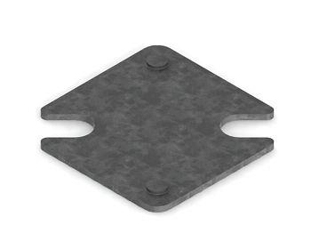 Unterlegplatte 2 mm verzinkt