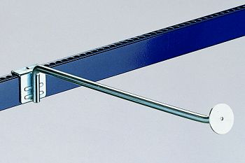 Aufsteckhaken verzinkt Länge 400 mm mit Platte