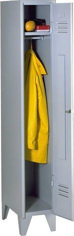 Stahl-Kleiderschrank 1 Abteil á 300 mm, HxBxT 1850 x 300 x 500 mm