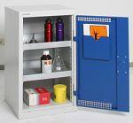 Umweltschrank Basic-Plus, 2 Wannen grau/blau HxBxT 900 x 500 x 500 mm