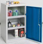 Umweltschrank Basic, 2 Wannen grau/blau HxBxT 900 x 500 x 500 mm