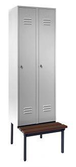 Stahl-Kleiderschrank 2 Abteile 300 mm