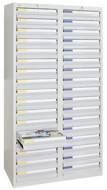 Schubladenschrank lichtgrau/lichtgrau Anzahl Schubladen 34 x 100 mm