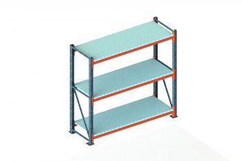Grundschwerlastregal vzk./RAL 2001 HxLxT 2200x2225x800 mm, 3 Böden