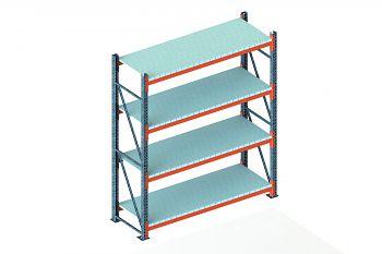 Grundschwerlastregal vzk./RAL 2001 HxLxT 2700x2225x800 mm, 4 Böden