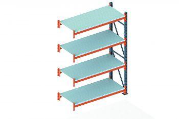 Anbauschwerlastregal vzk./RAL 2001 HxLxT 2700x1825x800 mm, 4 Böden