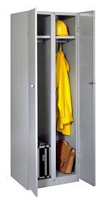 Garderobenschrank mit 2 Abteilen HxBxT: 1800 x 600 x 500 mm