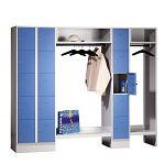 Garderobe mit 15 Schließfächern HxBxT: 1850 x 2220 x 500 mm
