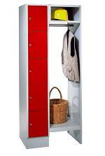 Garderobe mit 5 Schließfächern HxBxT: 1850 x 770 x 500 mm
