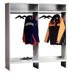 Garderobe ohne Schließfächer Lichtgrau HxBxT 1850 x 1750 x 500 mm