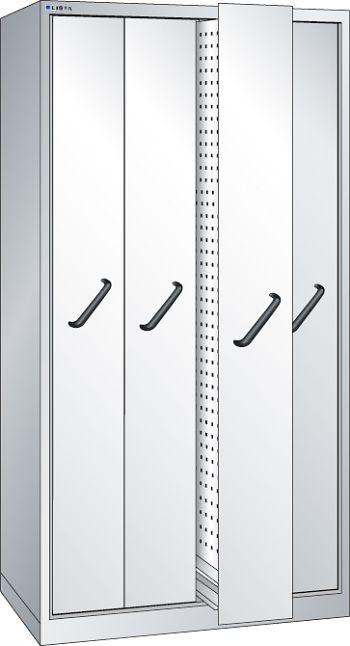 Vertikalauszugschrank, Key Lock mit Frontbl., 4 Auszüge mit  Lochwand