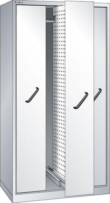 Vertikalauszugschrank, Key Lock mit Frontbl., 3 Auszüge mit  Lochwand