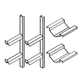 Fassregal kompl. bestehend aus: 2 Stützen mit 2 Faßauflagen