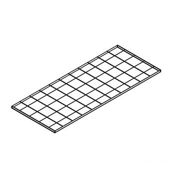 Gitterrost-Fachebene 1200 x 800 mm