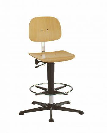 Arbeitsdrehstuhl hohe Version mit Fußring und Gleitern